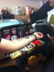 Mom getting her tattoo