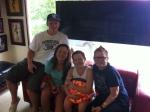 Tyler, Danielle, Lola and Mom