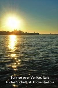 The sunrise in Venice, Italy