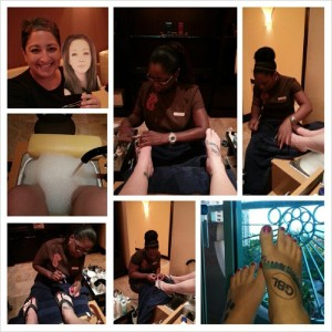 Spa day with #FlatLola and Nancy Beth at Atlantis